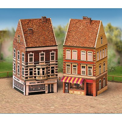 maquette en carton vieilles maisons coffret 3 schreiber bogen magasin de jouets pour enfants. Black Bedroom Furniture Sets. Home Design Ideas