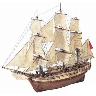 Maquette bateau de peche en bois