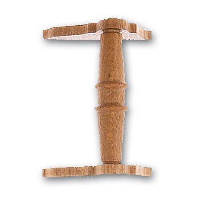 Artesania Accessoire pour maquette de bateau en bois : cabestan en bois horizontal 30 mm : nogal