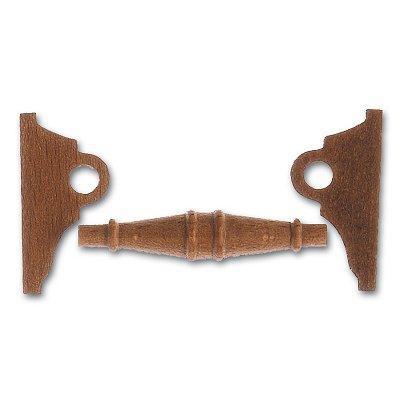 Artesania Accessoire pour maquette de bateau en bois : cabestan en bois horizontal 50 mm : nogal