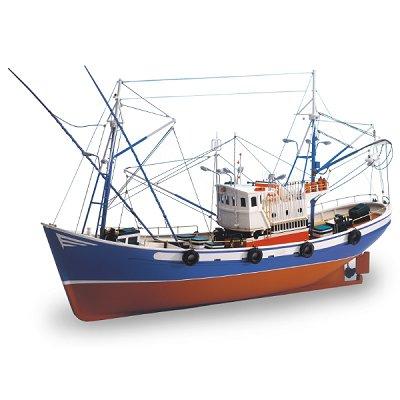 Artesania Maquette en bois - carmen ii : bateau de pêche du nord de l'espagne