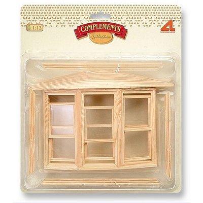 Artesania Accessoires pour maison de poupées : portes et fenêtres : fenêtre anglaise