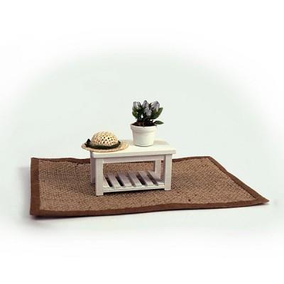 Artesania Accessoires pour maison de poupées : mobilier et accessoires : tapis et table basse