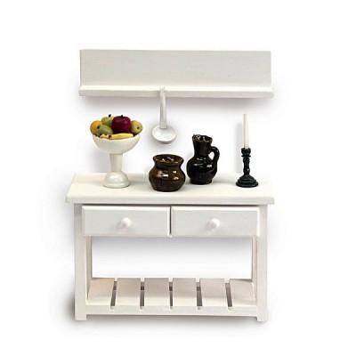 Artesania Accessoires pour maison de poupées : mobilier et accessoires : table de travail
