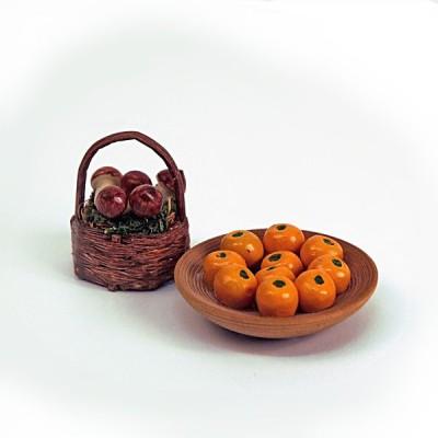 Artesania Accessoires pour maison de poupées : mobilier et accessoires : corbeilles de fruits d'automne