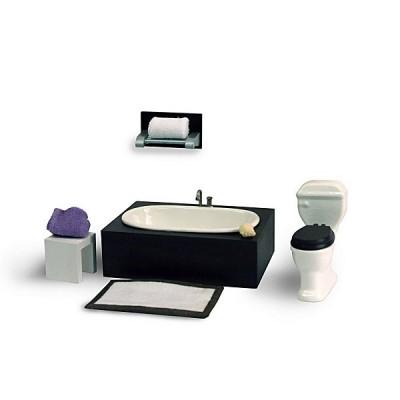 Artesania Accessoires pour maison de poupées : mobilier et accessoires : baignoire et toilette