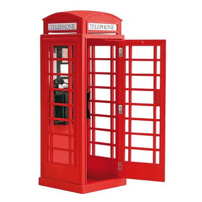 Artesania maquettes en bois et m tal heritage collection cabine t l pho - Meuble cabine telephonique anglaise ...