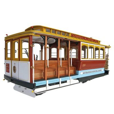 Artesania Maquette en bois : Tramway de San Francisco : Powell Street