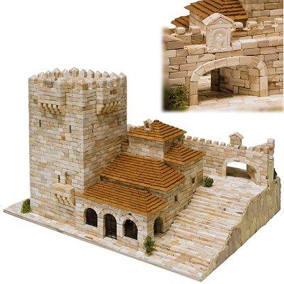 Aedes Maquette en céramique : torre bujaco, ermitage de la paix et arc de l'étoile, cáceres, espagne