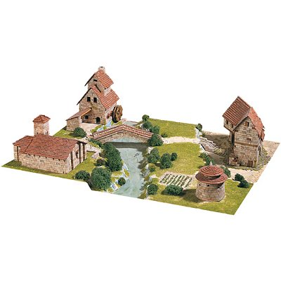 Aedes Maquette en céramique : diorama : ensemble rural