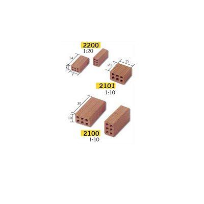 Aedes Maquette en céramique : accessoires : 25 demi-Briques : 1/10