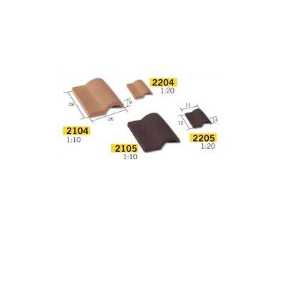 Aedes Maquette en céramique : accessoires : 25 tuiles romanes noires : 1/10