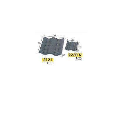 Aedes Maquette en céramique : accessoires : 100 tuiles flamandes noires : 1/10