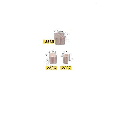 Aedes Maquette en céramique : accessoires : 50 pièces pour colonne carrée : grand modèle