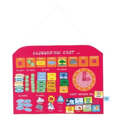 Ludi / jbm calendrier horloge rose