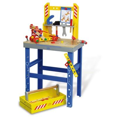Vilac Etabli : Grand Etabli Batibloc et son tiroir boîte à outils