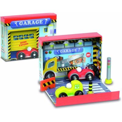 Vilac Coffret de garage avec voitures