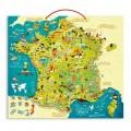 Vilac Puzzle 93 pièces magnétique en bois : Carte des merveilles de France