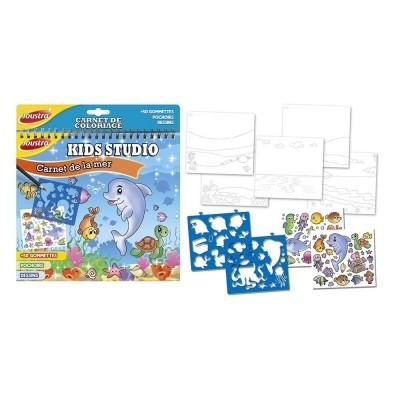 Joustra Carnet de coloriage kids studio : carnet de la mer