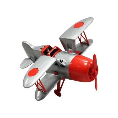 Joustra Avion vintage gris et rouge