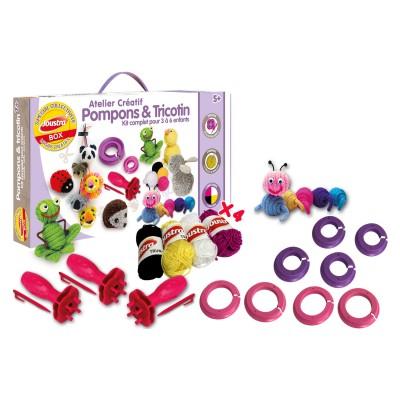Joustra Atelier créatif : pompons & tricotin