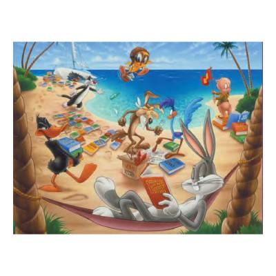 Mb Jeux puzzle 45 pièces : looney tunes, les robinsons