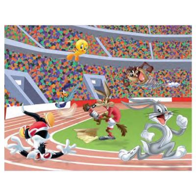 Mb Jeux puzzle 45 pièces : looney tunes, la course