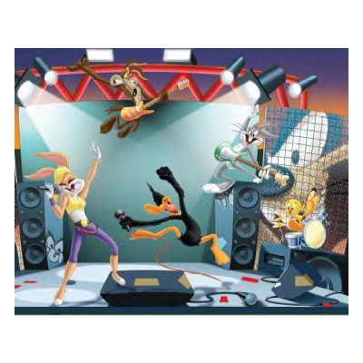 Mb Jeux puzzle 100 pièces : looney tunes, rock'n roll attitude