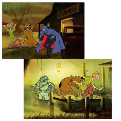 Mb Jeux puzzle 2 x 35 pièces : scooby doo, strange man et le plongeur fantôme
