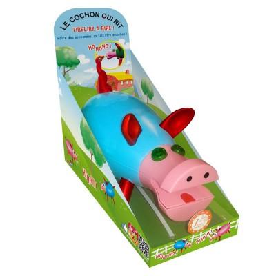 Tirelire rire cochon qui rit bleu dujardin magasin for Dujardin jouet