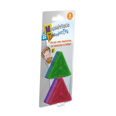 Dujardin Jeu de construction Magnétique & Découvertes : Recharge 5 triangles