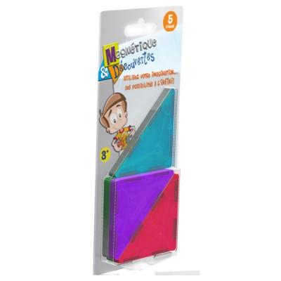 Dujardin Jeu de construction Magnétique & Découvertes : Recharge 5 triangles rectangles