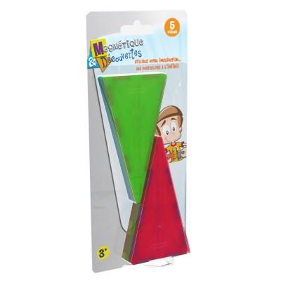 Dujardin Jeu de construction Magnétique & Découvertes : Recharge 5 triangles isocèles