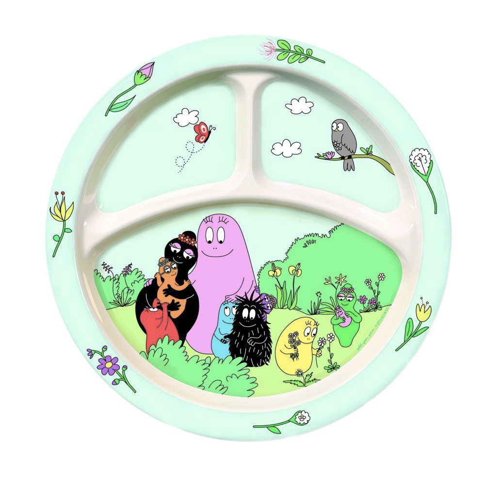 assiette 3 compartiments barbapapa ebay. Black Bedroom Furniture Sets. Home Design Ideas