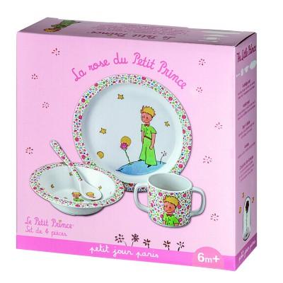 Petit Jour paris coffret repas 4 pièces : la rose du petit prince
