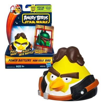 Hasbro Figurine Angry Birds Star Wars : Power Battlers : Han Solo Bird