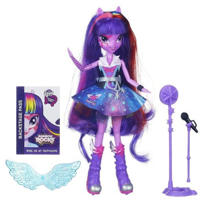Hasbro Figurine mon petit poney : equestria girls rainbow rocks : twilight sparkle