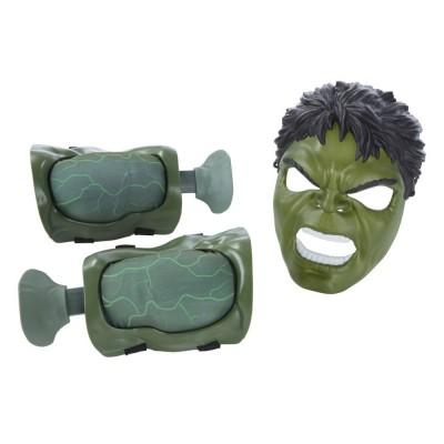 Hasbro Accessoires de déguisements : muscles et masque hulk