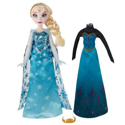 Hasbro Poupée La Reine des Neiges (Frozen) : Elsa et tenues