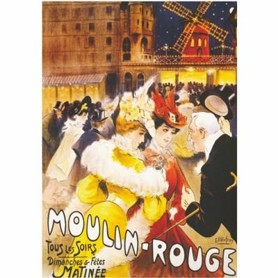 Dtoys Poster vintage : moulin-Rouge