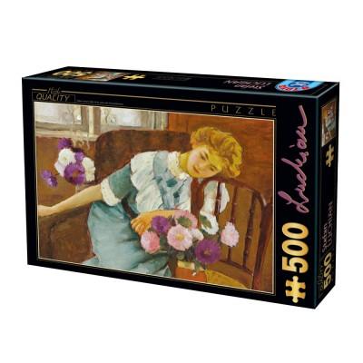 Dtoys Puzzle 500 pièces : stefan luchian : lorica avec des chrysanthèmes