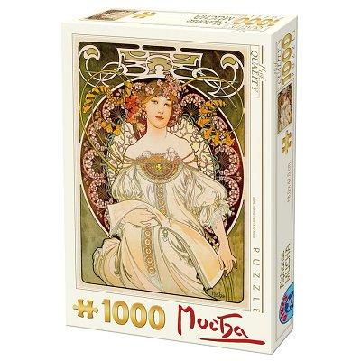 Dtoys Puzzle 1000 pièces - alphonse mucha : rêverie