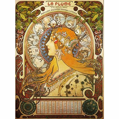 Dtoys Puzzle 1000 pièces - alphonse mucha : zodiaque