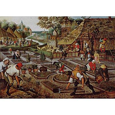 Dtoys Puzzle 1000 pièces - brueghel : le printemps