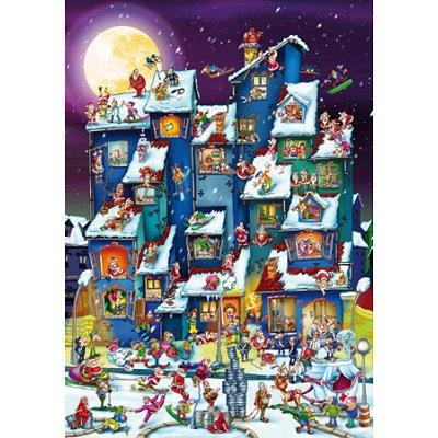 Dtoys Puzzle 1000 pièces - cartoon collection : pagaille de noël