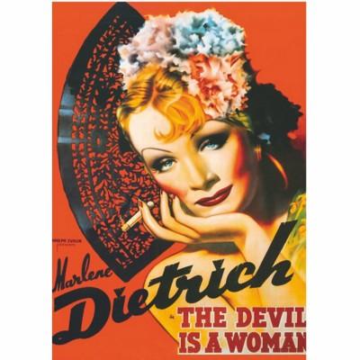 Dtoys Poster vintage : marlène dietrich, le diable est une femme