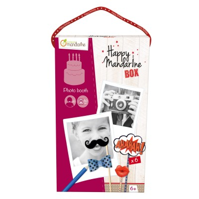 Avenue Mandarine coffret créatif happy mandarine box : photo booth