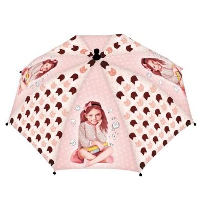 Avenue Mandarine parapluie 67 cm : des étoiles plein les yeux : rose