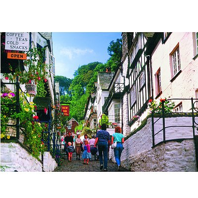 James Hamilton puzzle 1000 pièces - collection : clovelly, devon, angleterre