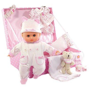 Petitcollin Poupon Petit Câlin 28 cm : Mallette bébé adoré